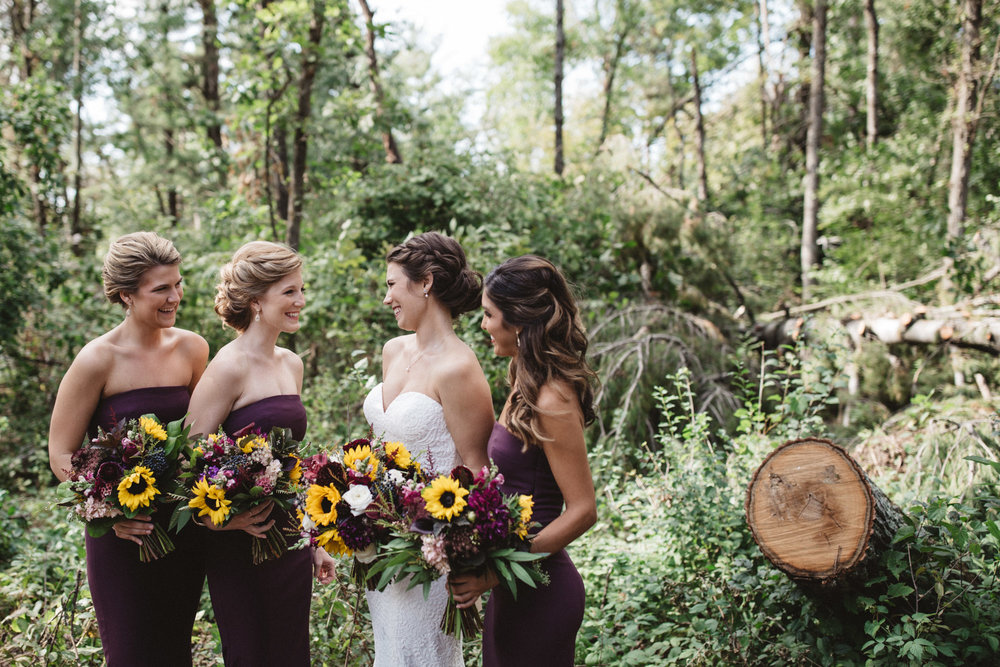Rustic chic wedding in the woods. Photography by Britt DeZeeuw, Grand View Lodge photographer.