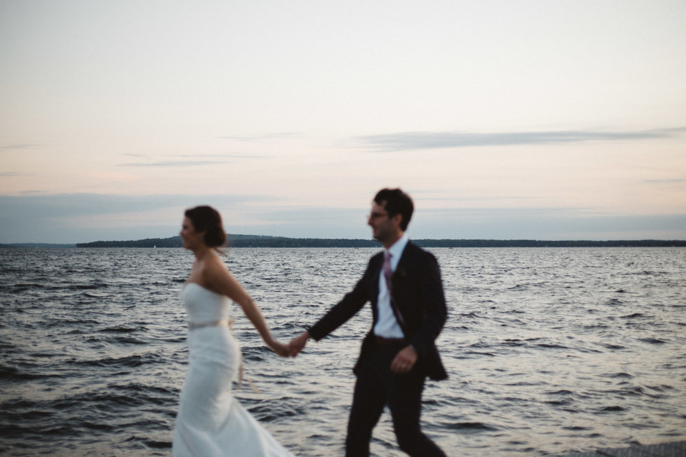 Unconventional wedding photography on Gull Lake at Grand View Lodge in Nisswa Minnesota by Britt DeZeeuw. Elopement and destination photographer.