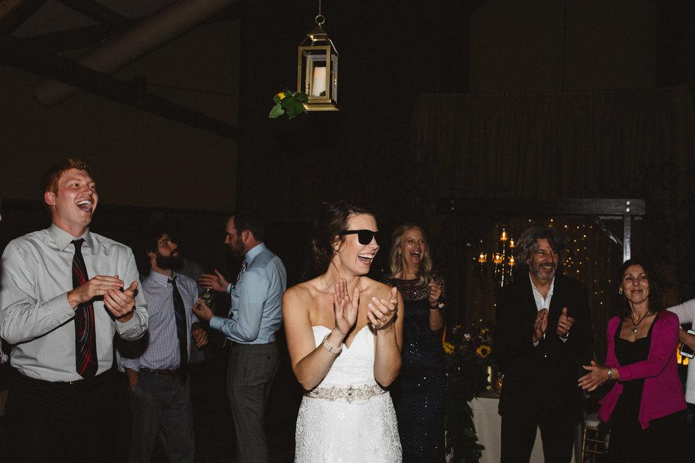 Grand View lodge wedding dance in Norway Center, photography by Britt DeZeeuw