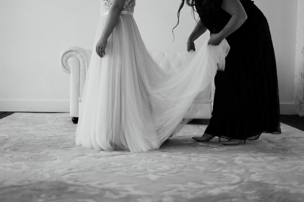 Minimalistic wedding photography at the NP Event Space by Britt DeZeeuw, Brainerd MN photographer.