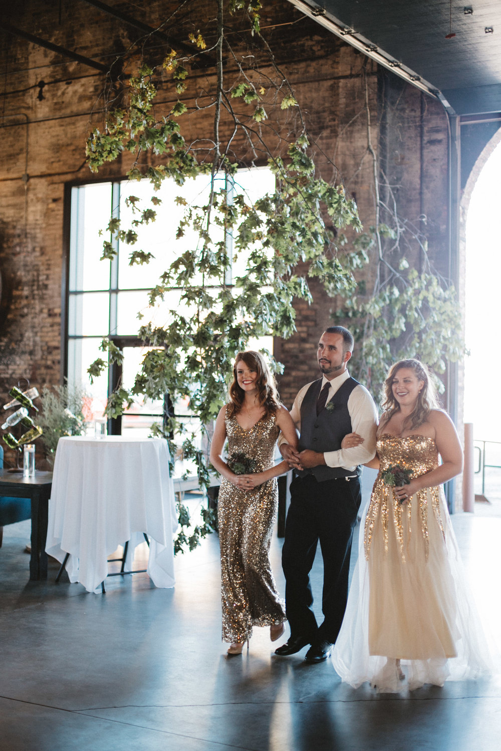 Warehouse wedding ceremony. Photography by Britt DeZeeuw, NP Event Space photographer.