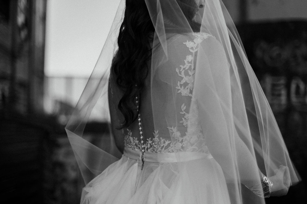 Wedding dress details. Photography by Britt DeZeeuw at the NP Event Space