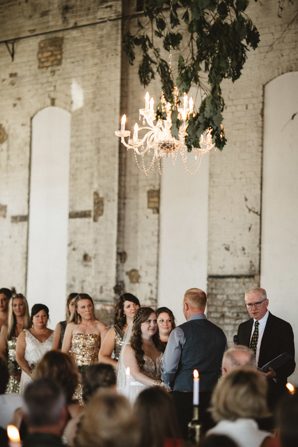 Indoor ceremony at the NP Event Space, photography by Britt DeZeeuw