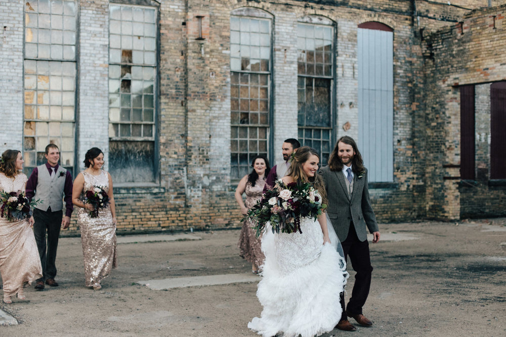 Avant garde wedding at the NP Event Space in Brainerd Minnesota, photography by Britt DeZeeuw
