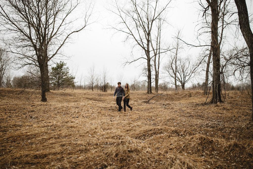 Brainerd Minnesota northland arboretum engagement session by Britt DeZeeuw