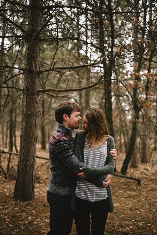 Northland arboretum engagement session by Britt DeZeeuw photography, Brainerd Minnesota natural light wedding photographer