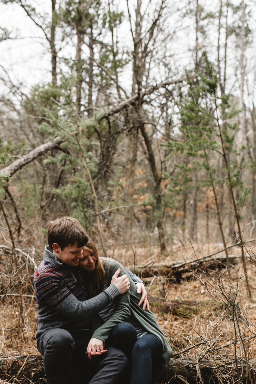 Northland Arboretum engagement photography documented by Brainerd Minnesota wedding photographer Britt DeZeeuw