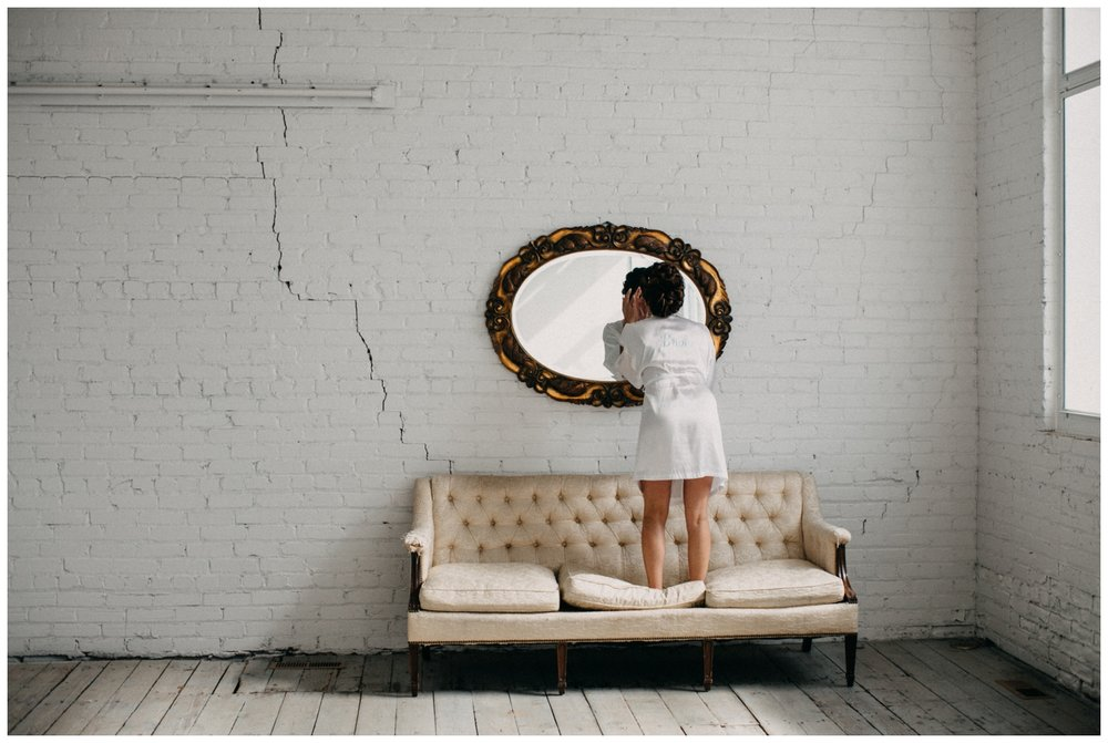 Bride getting ready at the NP Event Space in Brainerd Minnesota