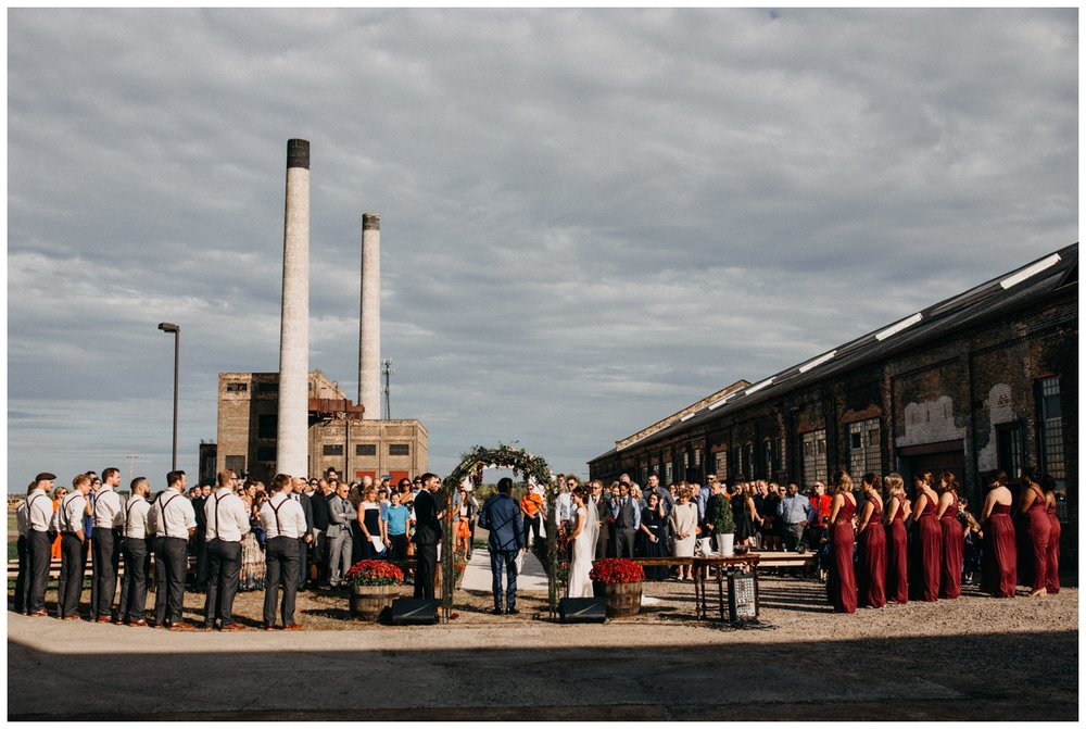 Industrial chic warehouse wedding at the NP Event Space in Brainerd Minnesota