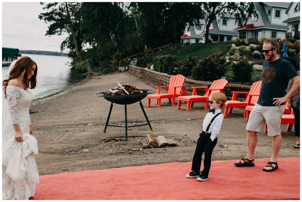 Quartdeck resort wedding on Gull Lake