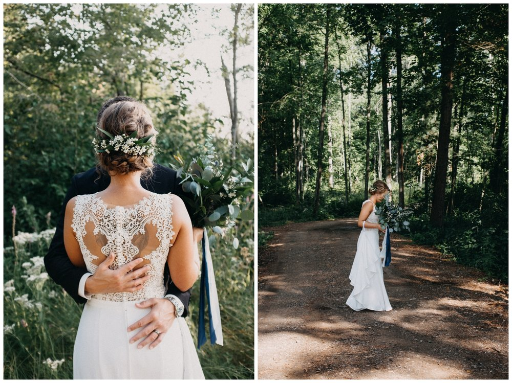 Intimate lakeside elopement in northern Minnesota photographed by Britt DeZeeuw