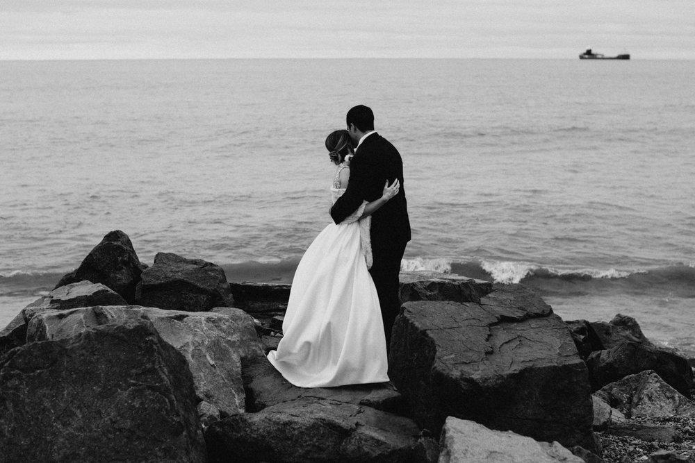Romantic north shore wedding in Duluth, Minnesota by Britt DeZeeuw