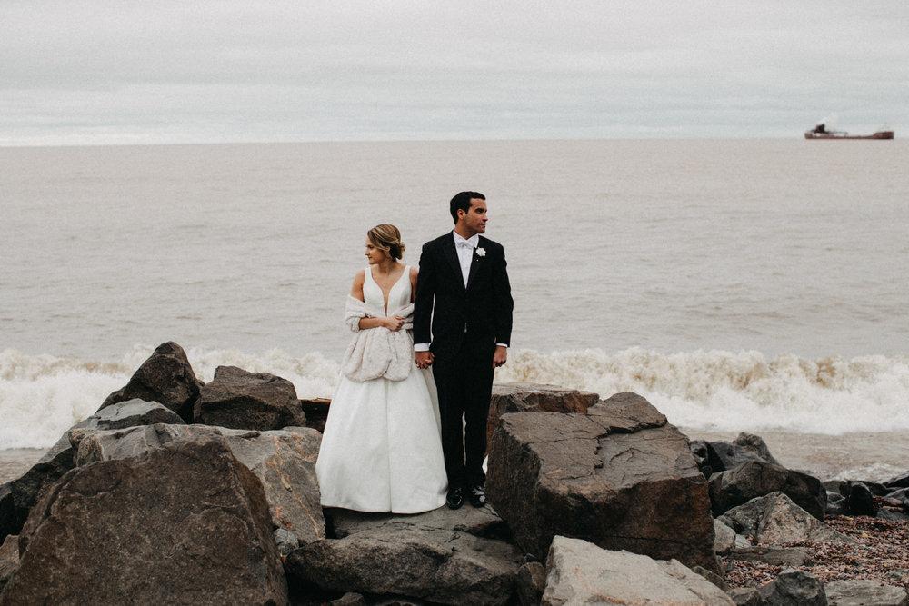 North shore wedding on Lake Superior in Duluth Minnesota by Britt DeZeeuw