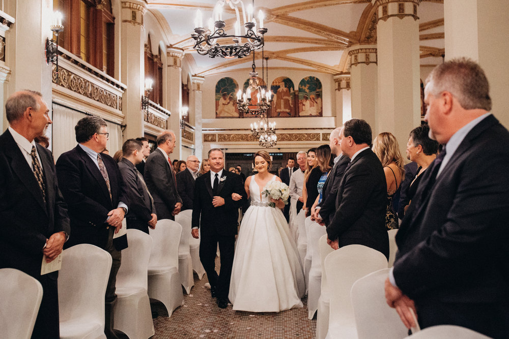 Greysolon wedding ceremony in the Moorish Room