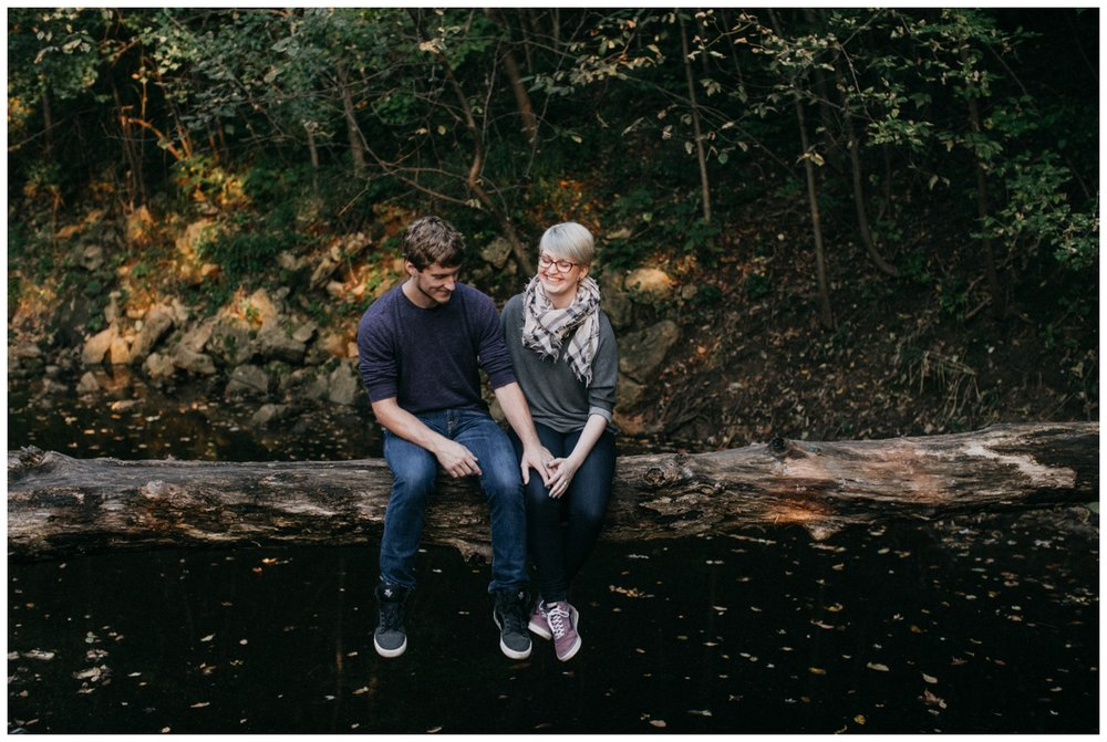 Rum River engagement session by MN wedding photographer Britt DeZeeuw