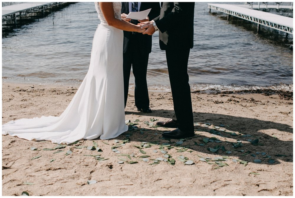 Intimate Minnesota beach wedding photographed by Britt DeZeeuw