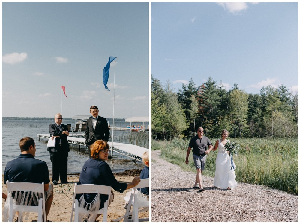 Lakeside wedding ceremony in Brainerd Minnesota