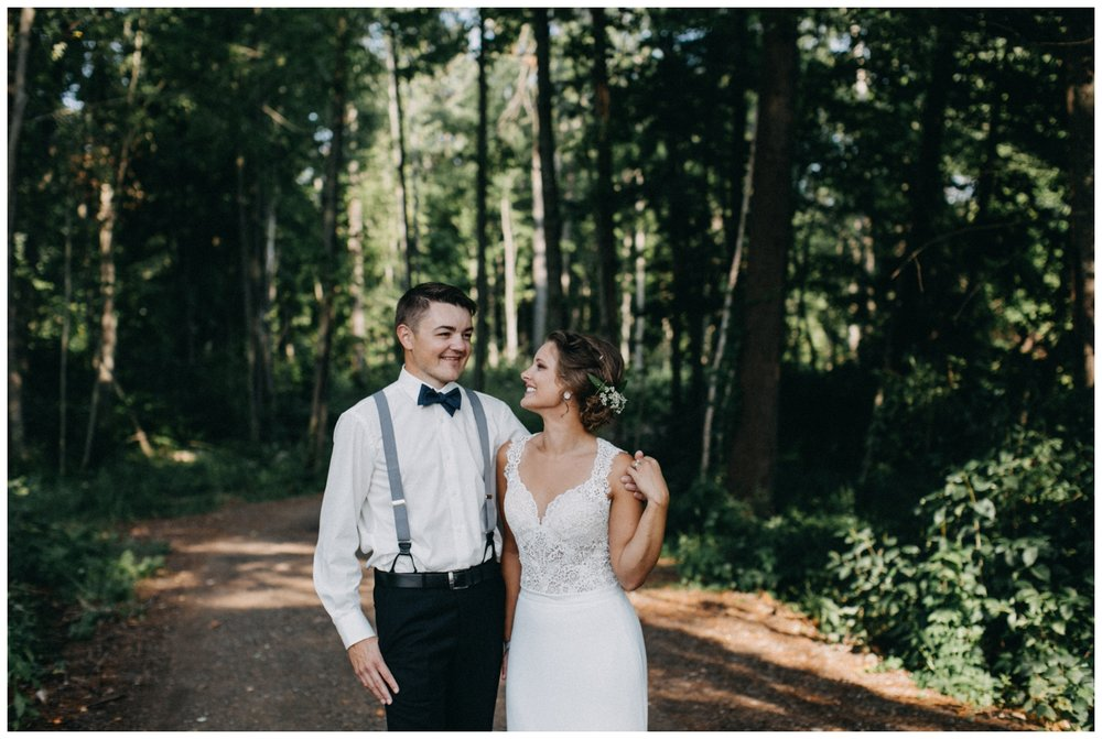Beautiful lakeside beach wedding in Brainerd Minnesota
