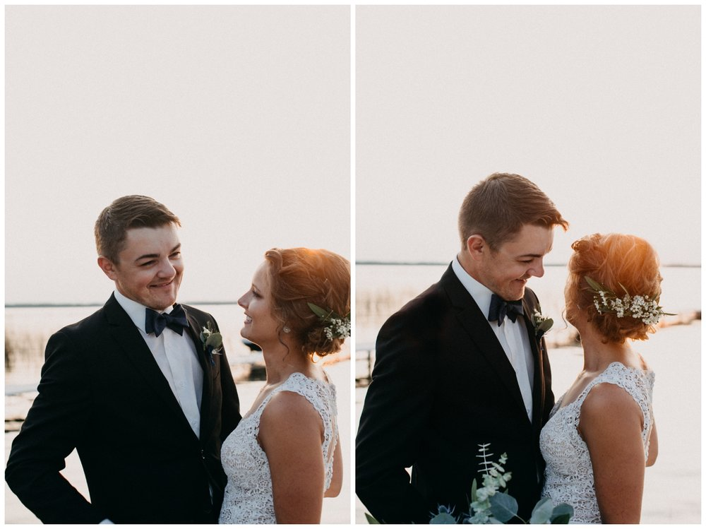 Intimate cottage wedding at sunset on Lake Edward photographed by Britt DeZeeuw