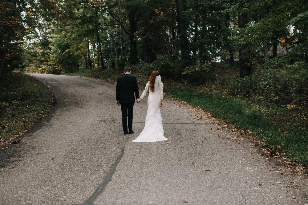 Fall wedding at the Quarterdeck in Brainerd Minnesota