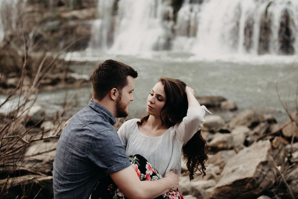 Destination engagement session at Rock Island State Park in Nashville, TN by Britt DeZeeuw
