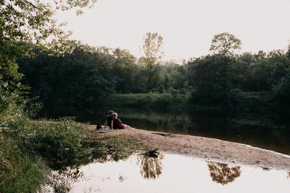 Minnesota summer engagement photographed by Britt DeZeeuw