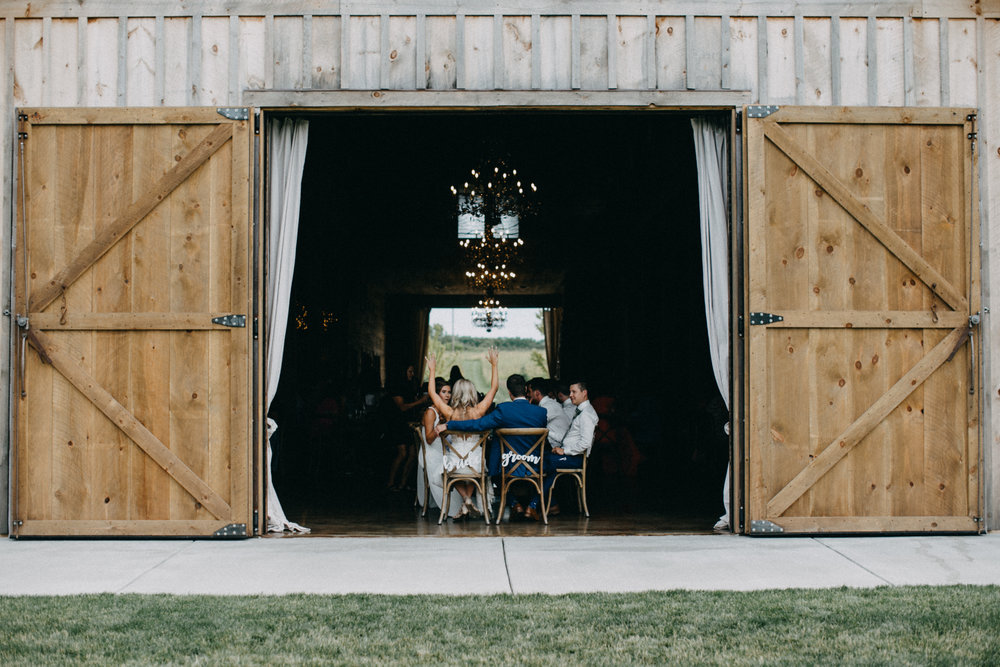 Wedding reception at Creekside Farm in Rush City photographed by Britt DeZeeuw