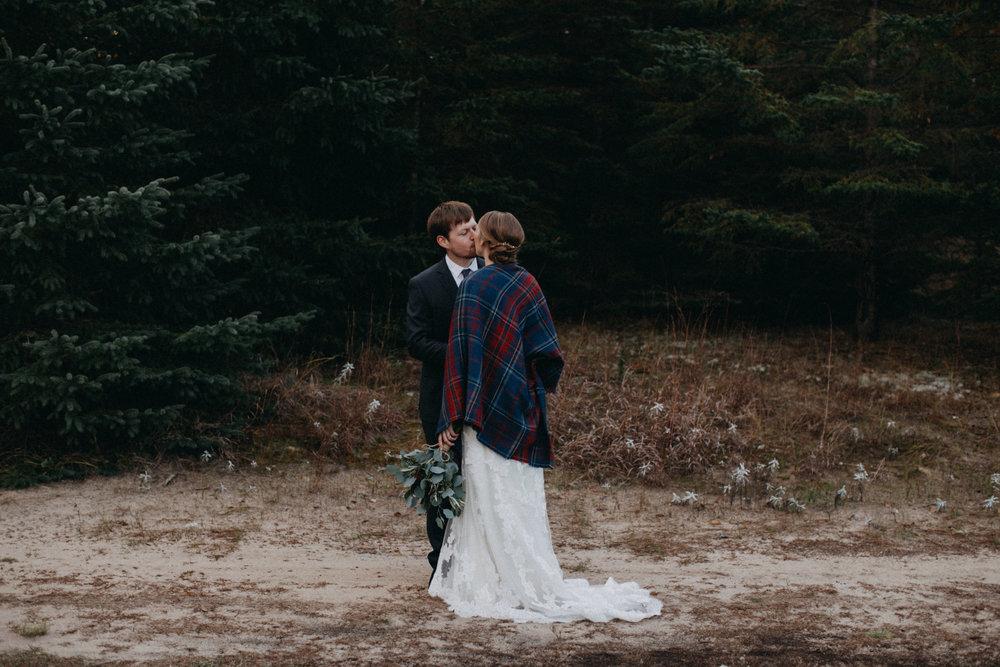 Fall wedding at the Northland Arboretum in Brainerd Minnesota,  photographed by Britt DeZeeuw