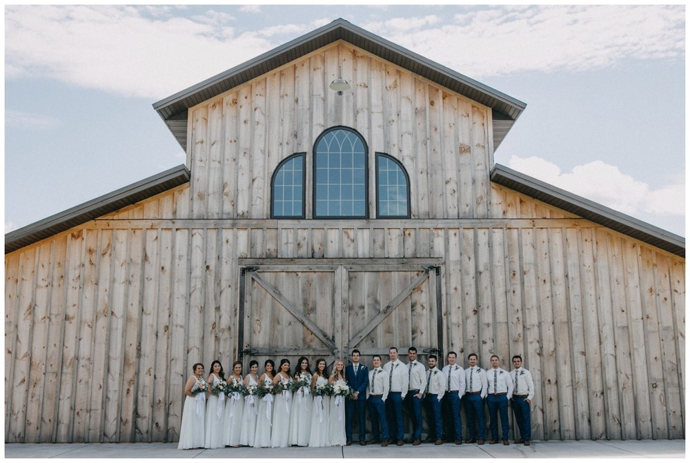 Wedding Party at Creekside Farm in Rush City, MN by Britt DeZeeuw