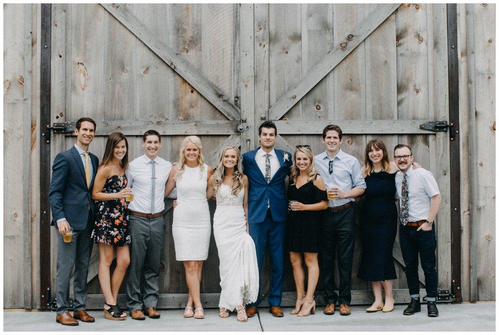 Casual group photos at Creekside Farm wedding