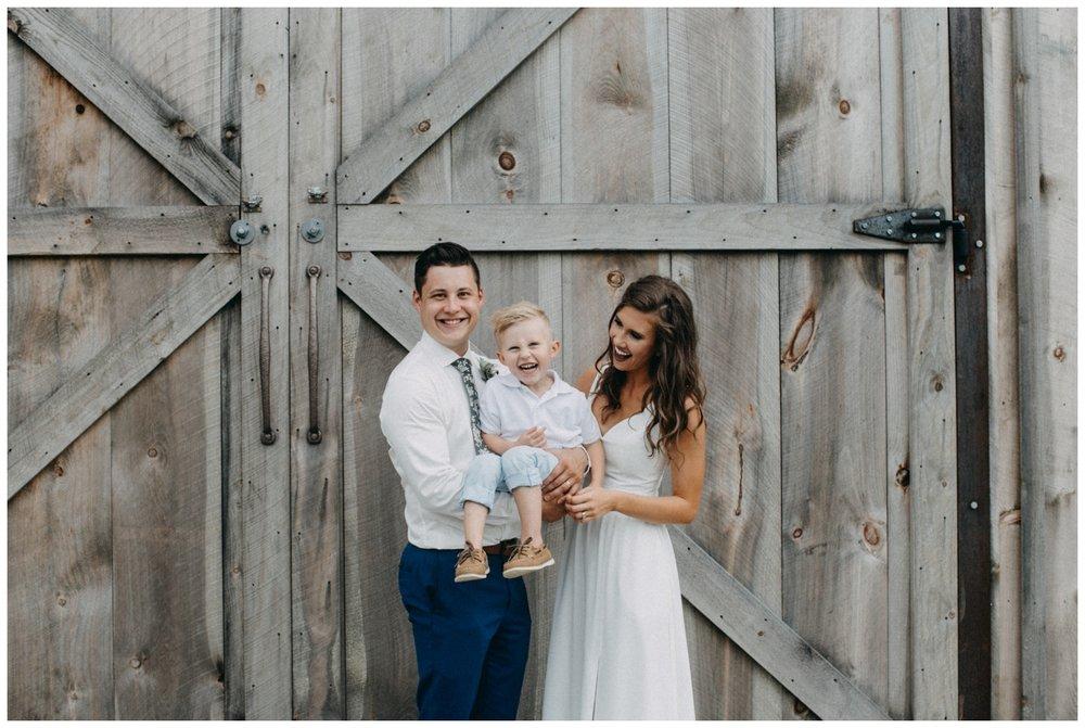 Natural family photos at Creekside Farm Wedding