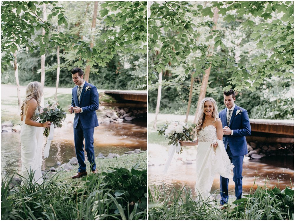 Summer wedding at Creekside Farm in Rush City, MN