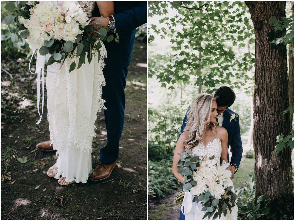 Bride and Groom at Creekside Farm wedding
