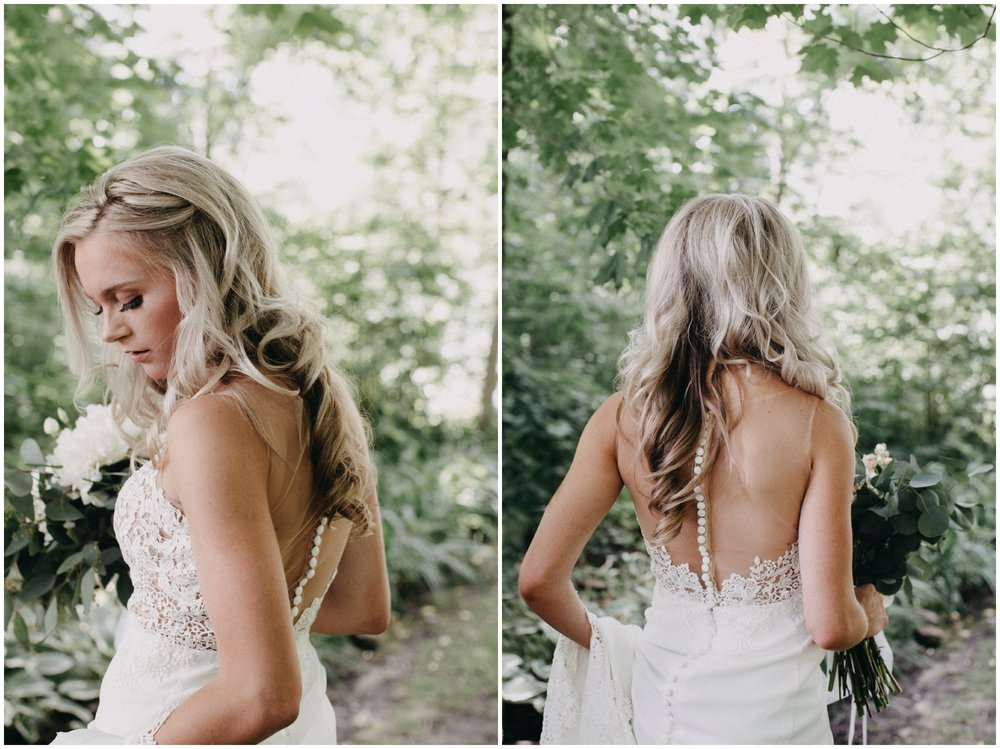 Gorgeous bridal portrait at Creekside Farm wedding in Rush City, Minnesota