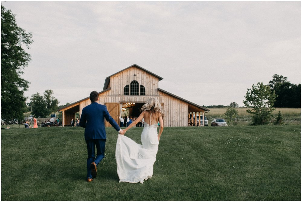 Outdoor wedding reception at Creekside Farm