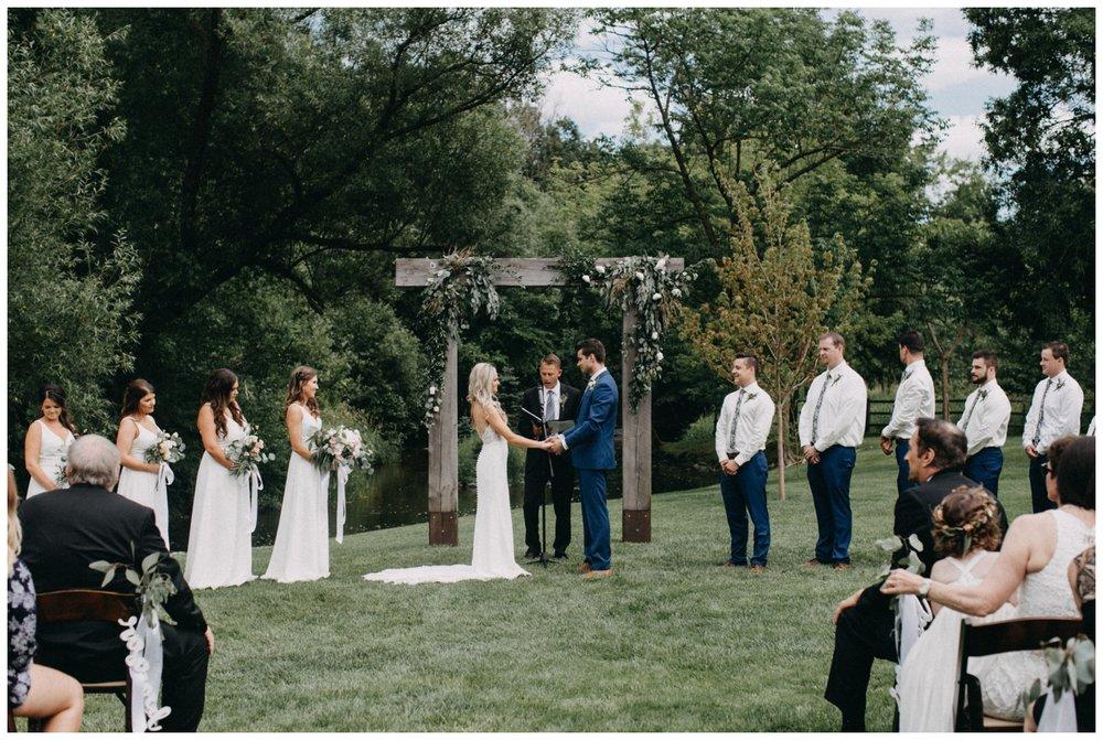 Creekside Farm outdoor wedding ceremony