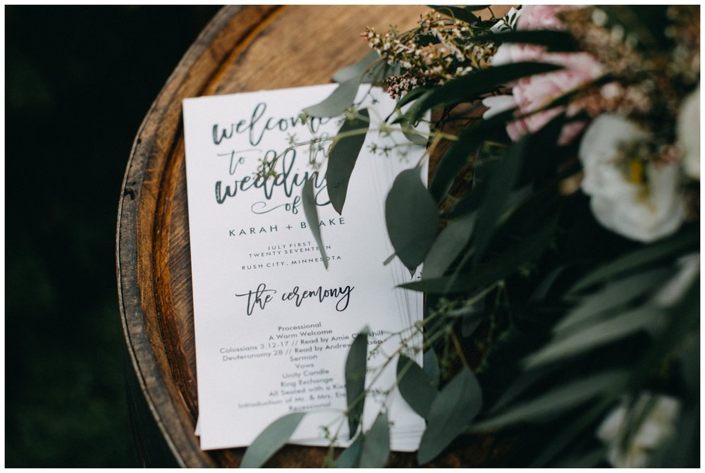 Gorgeous ceremony decor at Creekside Farm wedding