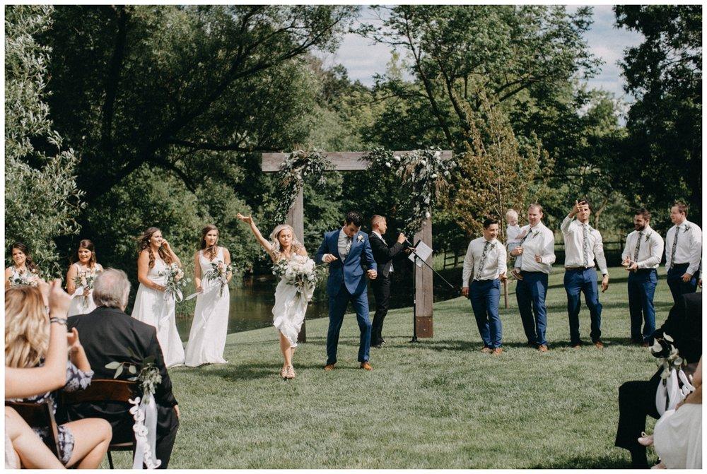 Casual and fun wedding at Creekside Farm in Rush City, MN
