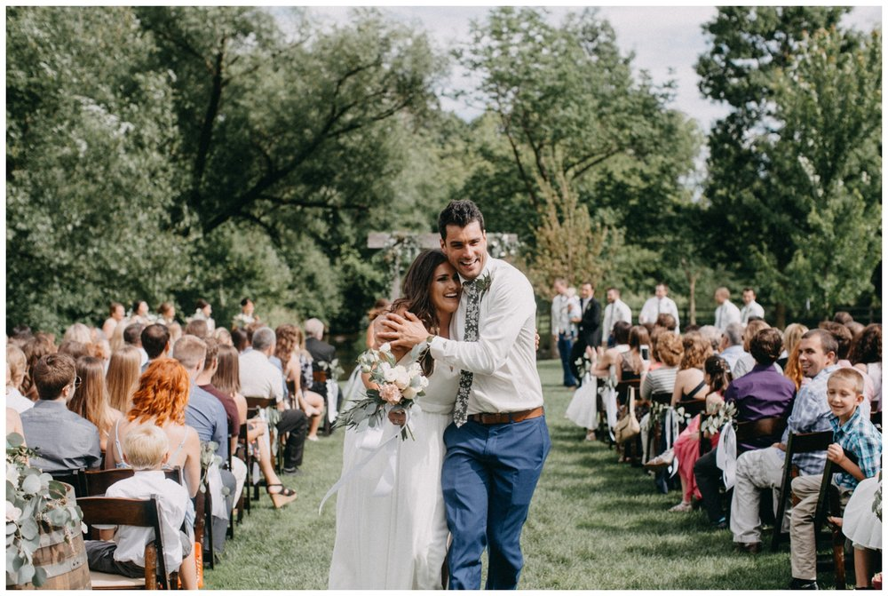 Documentary style wedding photography at Creekside Farm