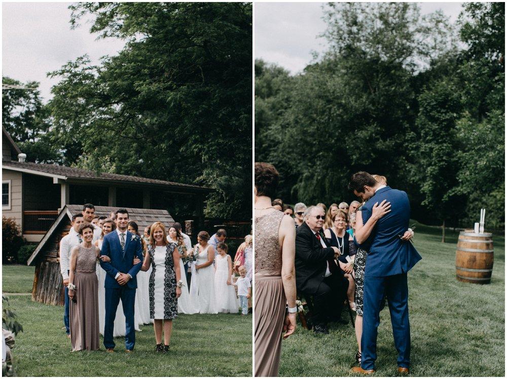 Outdoor wedding ceremony at Creekside Farm
