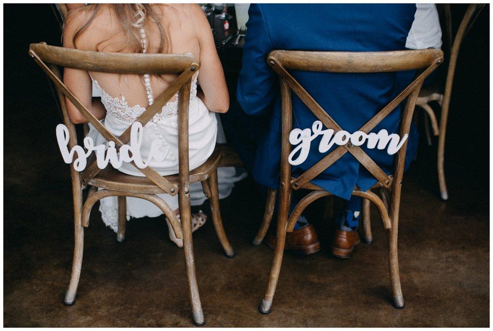 Bride and groom at Creekside Farm wedding reception