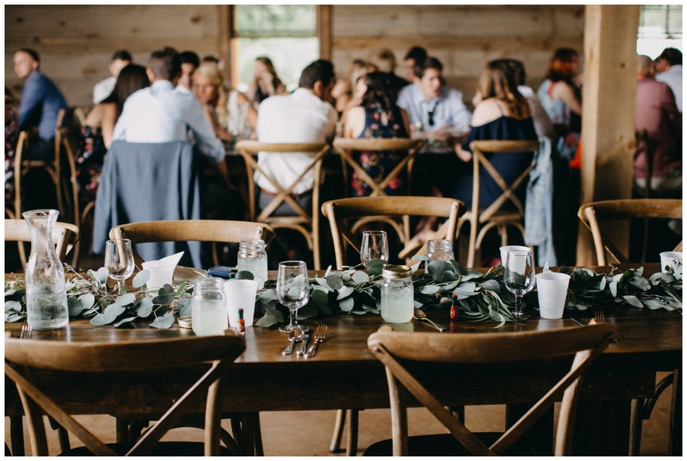 Mason jar margaritas as Creekside Farm wedding