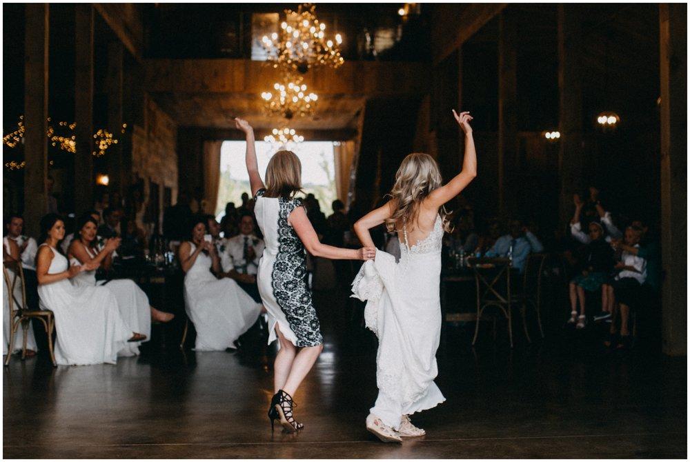 Bride dancing with mom at Creekside Farm wedding