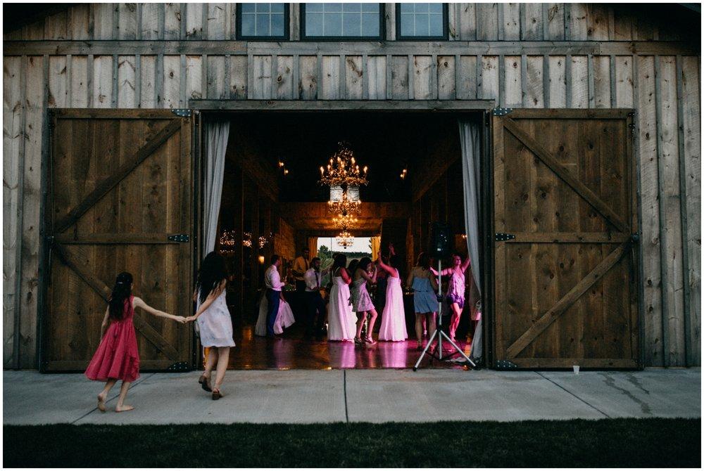 Barn wedding dance at Creekside Farm