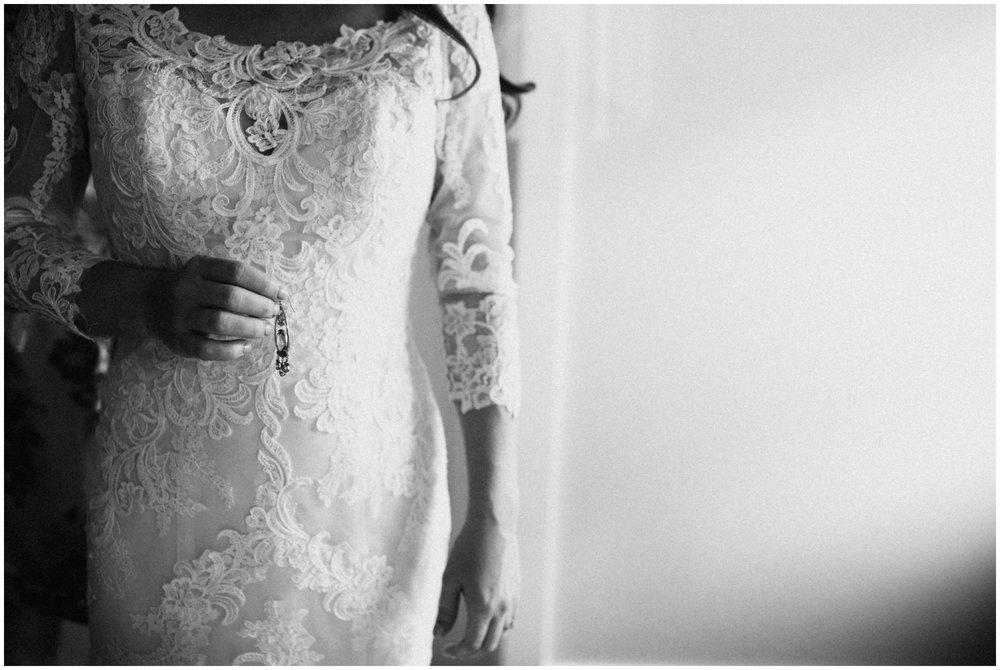 Minimalistic bridal portrait at Gull Lake wedding