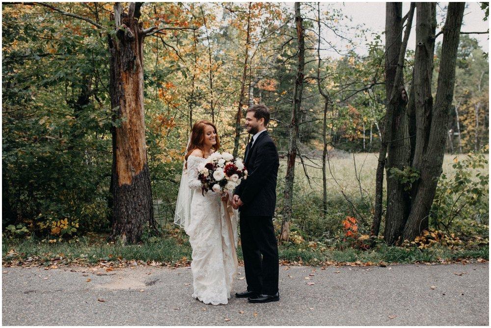 Fall wedding at the Quartdeck Resort on Gull Lake