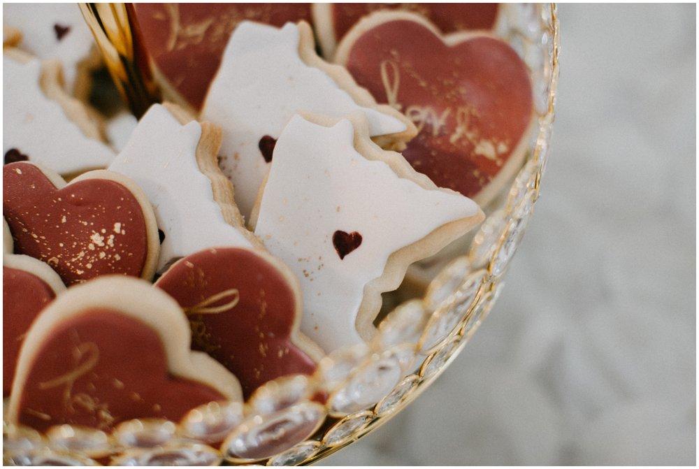 MN shaped wedding dessert cookies at the Quarterdeck in Brainerd Minnesota