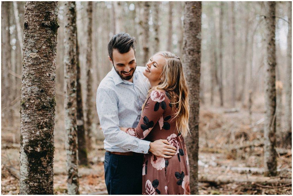 Unposed engagement photography in Brainerd Minnesota