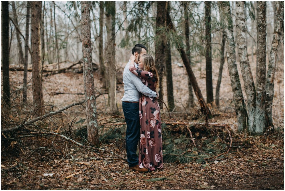 Destination engagement photography in the forest