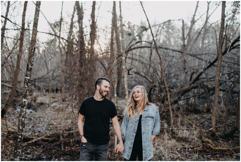 Untraditional engagement photography in Brainerd Minnesota